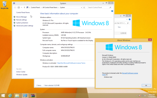Windows 8.1 x64 activated