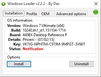 Windows 7 Loader by DaZ - Activator Windows 7 Ultimate!