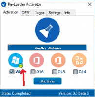 Windows 10 Re-Loader activation dot