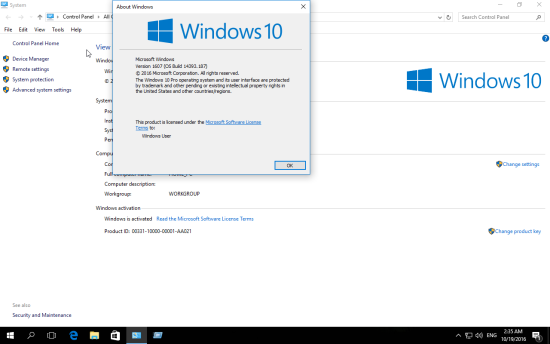 kmsauto activated windows 10 x64