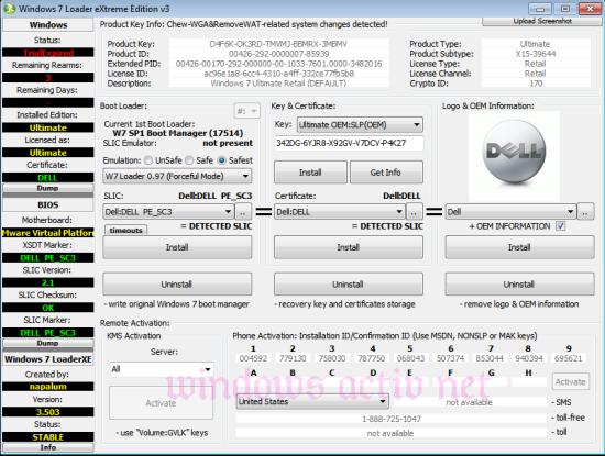 loader extreme advanced mod activation Windows 7