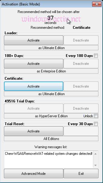 loader exteme basic mod activation Windows 7
