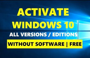 activate windows 10 without software
