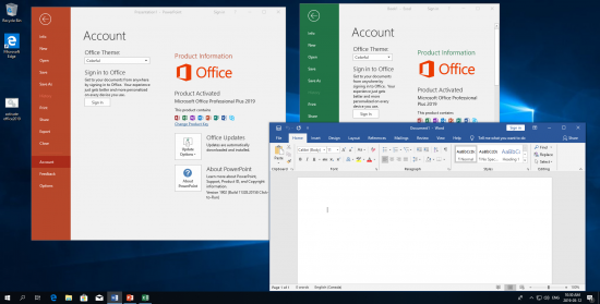 Activated Microsoft Office 2019